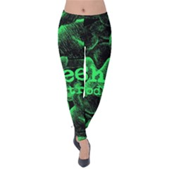 Bloodstream Single ED Sheeran Velvet Leggings