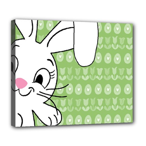 Easter bunny  Deluxe Canvas 24  x 20