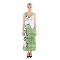 Easter bunny  Sleeveless Maxi Dress