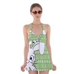 Easter bunny  Halter Swimsuit Dress