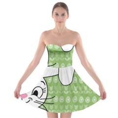 Easter bunny  Strapless Bra Top Dress