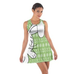 Easter bunny  Cotton Racerback Dress