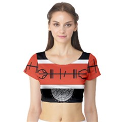 Poster Twenty One Pilots Short Sleeve Crop Top (tight Fit)