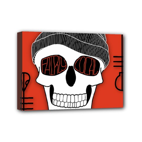 Poster Twenty One Pilots Skull Mini Canvas 7  x 5