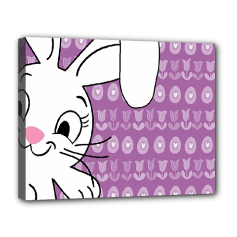 Easter bunny  Canvas 14  x 11