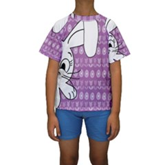 Easter bunny  Kids  Short Sleeve Swimwear