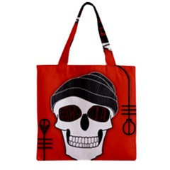 Poster Twenty One Pilots Skull Zipper Grocery Tote Bag