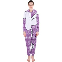 Easter bunny  Hooded Jumpsuit (Ladies)