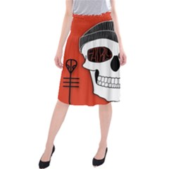 Poster Twenty One Pilots Skull Midi Beach Skirt