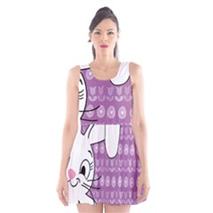 Easter bunny  Scoop Neck Skater Dress