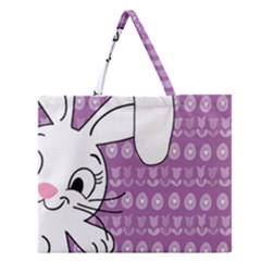 Easter bunny  Zipper Large Tote Bag