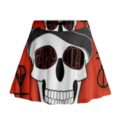 Poster Twenty One Pilots Skull Mini Flare Skirt