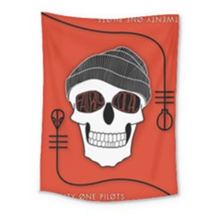 Poster Twenty One Pilots Skull Medium Tapestry