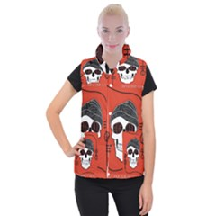 Poster Twenty One Pilots Skull Women s Button Up Puffer Vest