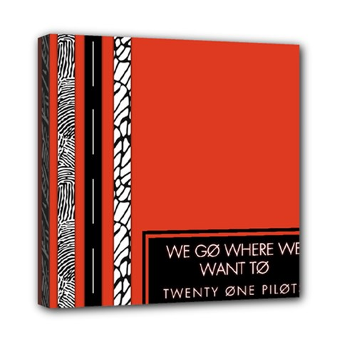 Poster Twenty One Pilots We Go Where We Want To Mini Canvas 8  x 8