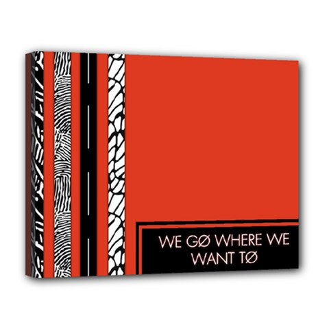 Poster Twenty One Pilots We Go Where We Want To Canvas 14  x 11