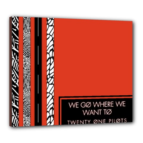Poster Twenty One Pilots We Go Where We Want To Canvas 24  X 20