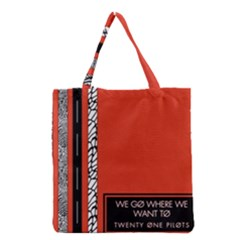 Poster Twenty One Pilots We Go Where We Want To Grocery Tote Bag