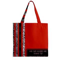 Poster Twenty One Pilots We Go Where We Want To Zipper Grocery Tote Bag