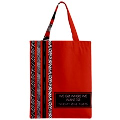 Poster Twenty One Pilots We Go Where We Want To Zipper Classic Tote Bag