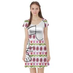 Easter bunny  Short Sleeve Skater Dress