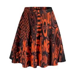 Ed Sheeran High Waist Skirt