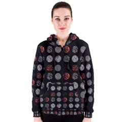 Digital Art Dark Pattern Abstract Orange Black White Twenty One Pilots Women s Zipper Hoodie