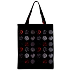 Digital Art Dark Pattern Abstract Orange Black White Twenty One Pilots Zipper Classic Tote Bag