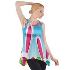 Easter bunny  Side Drop Tank Tunic