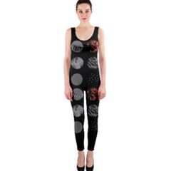 Digital Art Dark Pattern Abstract Orange Black White Twenty One Pilots Onepiece Catsuit