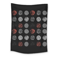 Digital Art Dark Pattern Abstract Orange Black White Twenty One Pilots Medium Tapestry