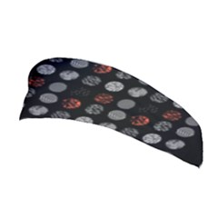 Digital Art Dark Pattern Abstract Orange Black White Twenty One Pilots Stretchable Headband