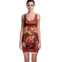 Ed Sheeran Illustrated Tour Poster Sleeveless Bodycon Dress