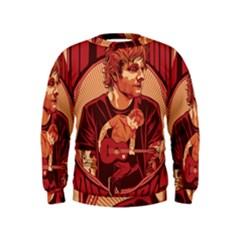 Ed Sheeran Illustrated Tour Poster Kids  Sweatshirt