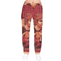Ed Sheeran Illustrated Tour Poster Drawstring Pants