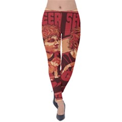 Ed Sheeran Illustrated Tour Poster Velvet Leggings