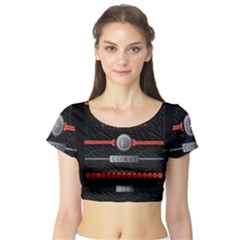 Twenty One Pilots Event Poster Short Sleeve Crop Top (tight Fit)