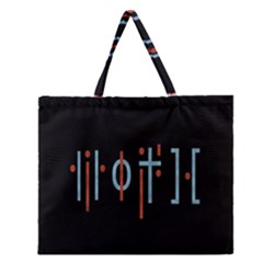 Twenty One Pilots Event Poster Zipper Large Tote Bag