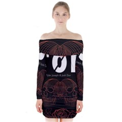 Twenty One Pilots Event Poster Long Sleeve Off Shoulder Dress