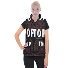 Twenty One Pilots Event Poster Women s Button Up Puffer Vest