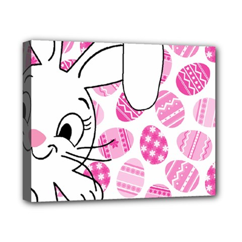 Easter bunny  Canvas 10  x 8