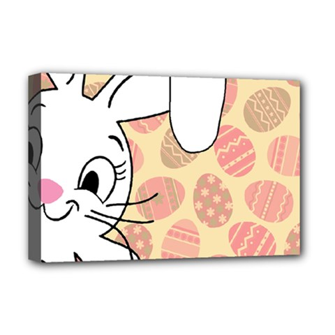 Easter bunny  Deluxe Canvas 18  x 12
