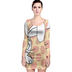 Easter bunny  Long Sleeve Bodycon Dress
