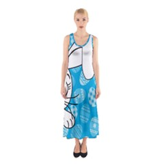 Easter bunny  Sleeveless Maxi Dress