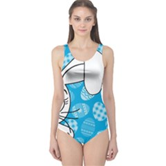 Easter bunny  One Piece Swimsuit