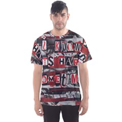 Top Lyrics Twenty One Pilots The Run And Boys Men s Sport Mesh Tee