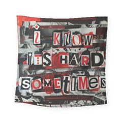Top Lyrics Twenty One Pilots The Run And Boys Square Tapestry (Small)