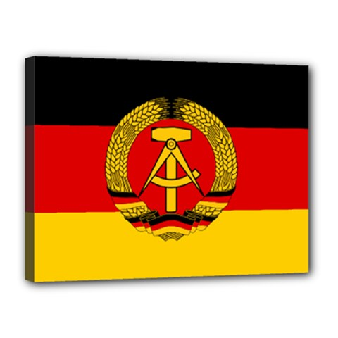 Flag of East Germany Canvas 16  x 12