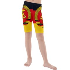 Flag of East Germany Kids  Mid Length Swim Shorts