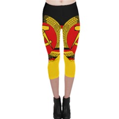 Flag of East Germany Capri Leggings